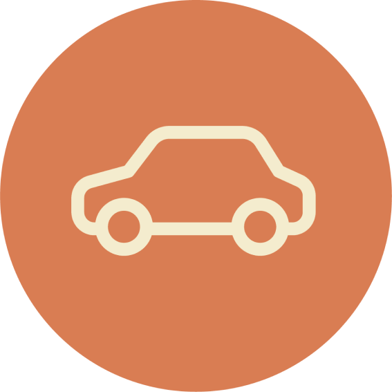 Getting here icon with car