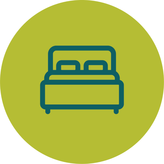 Lodging icon of bed