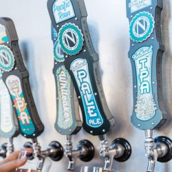 A collection of beer taps