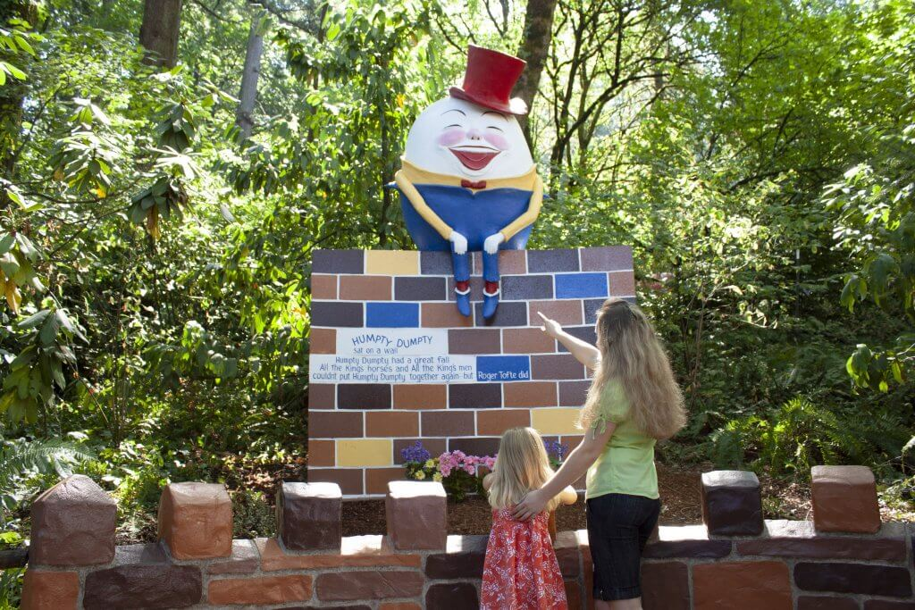Humpty Dumpty at the Enchanted Forest amusement park